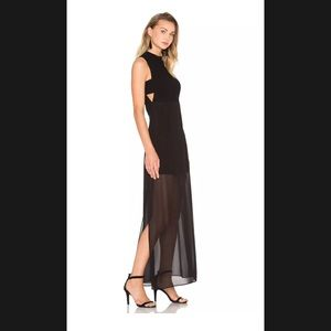 BCBGeneration mock neck maxi dress size 2